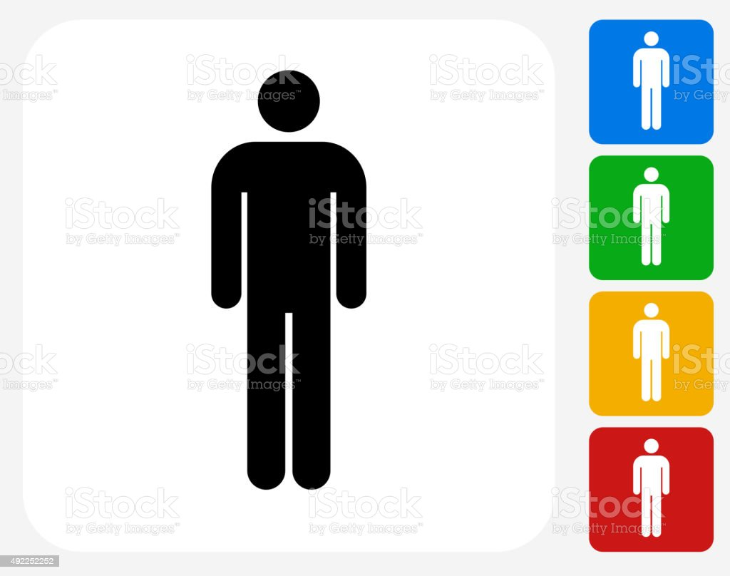 Stick Figure Icon Flat Graphic Design vector art illustration
