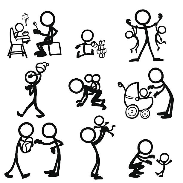 Stick Figure People Babies