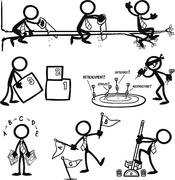 Stick Figure People Business Strategy