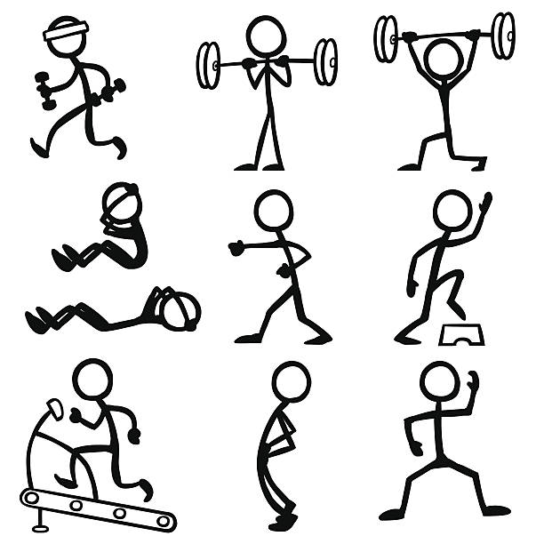 Stick Figure People Fitness