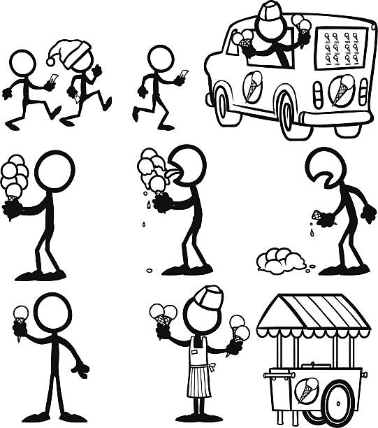 Stick Figure People ice-cream