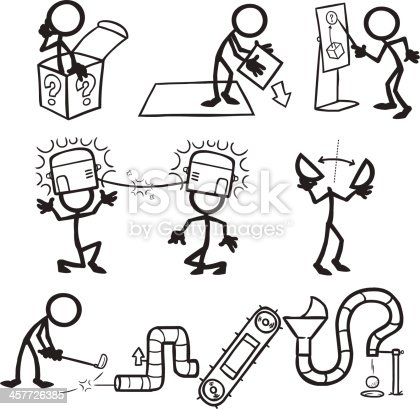 Stick figure people lateral thought thinking stock vector for Kochen 4 personen