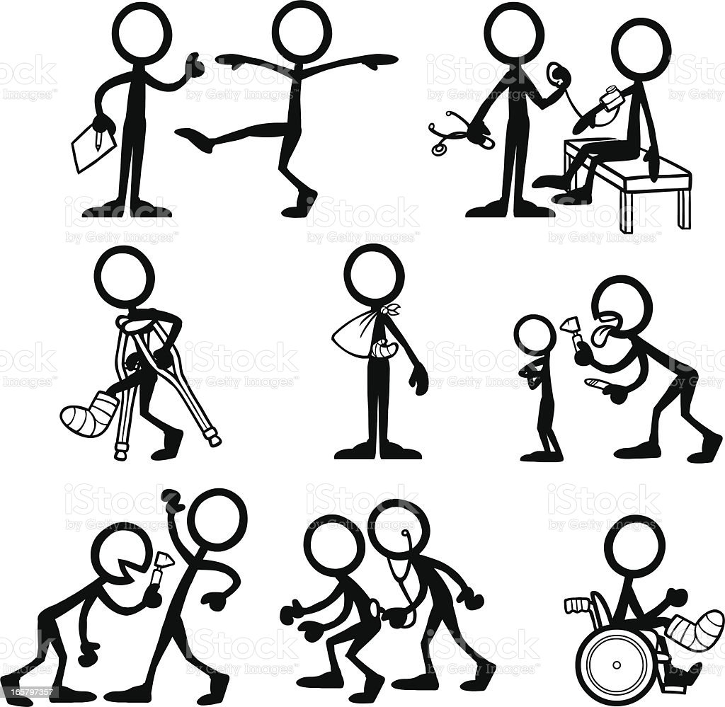 stick figure medical istock vector con personas dibujo istockphoto checkup activity dibujos monigotes illustration