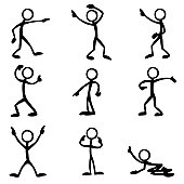 Stick Figure People Pointing