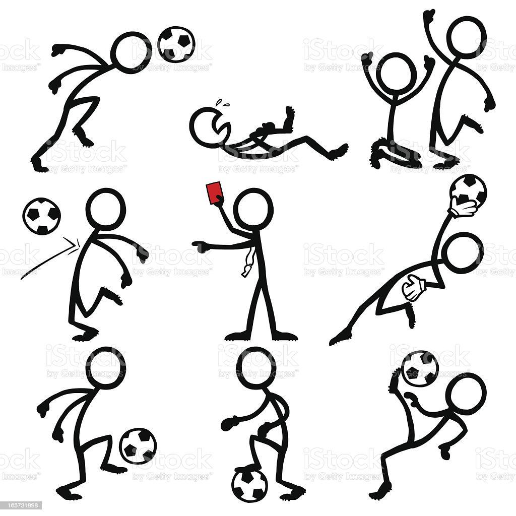 stick figure soccer vector illustration istock vectors