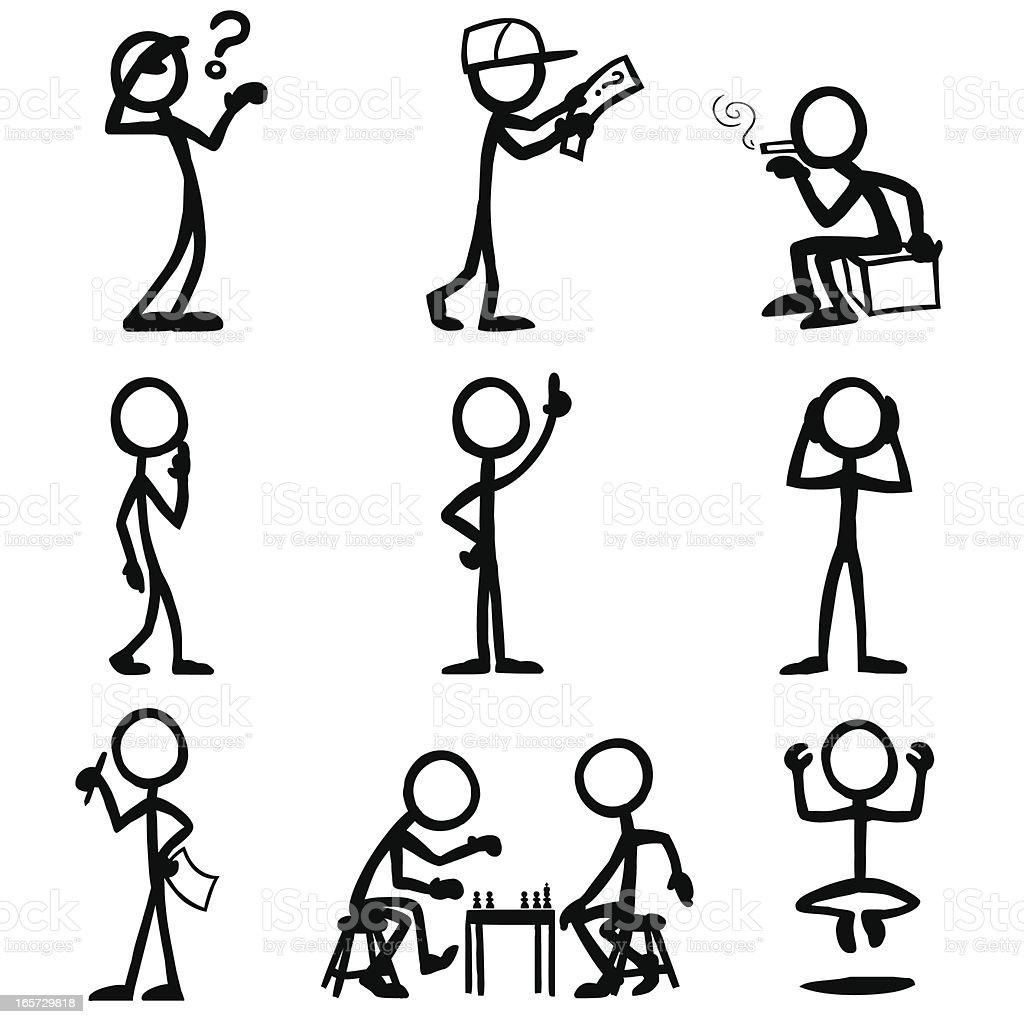 Représentation humaine en traits les gens - Illustration vectorielle