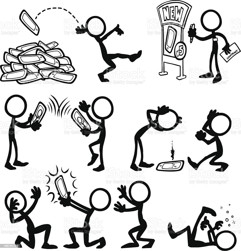stick figure figures vector mobile tablets stickfigure drawings drawing using tablet peoples stickfigures illustration royalty illustrations boi fan istock vectors