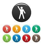 Stick figure stickman icons set pictogram vector simple