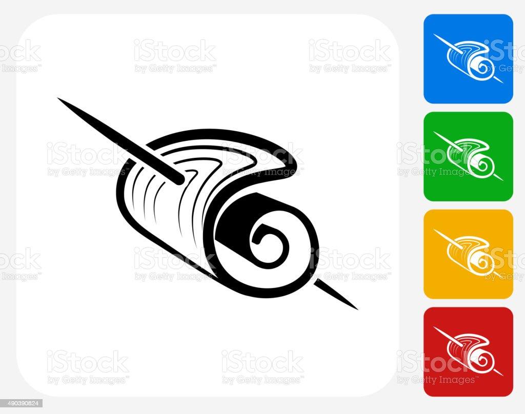 Stick Food Icon Flat Graphic Design vector art illustration