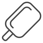 Stick ice cream line icon. Ice lolly vector illustration isolated on white. Sweets outline style design, designed for web and app. Eps 10