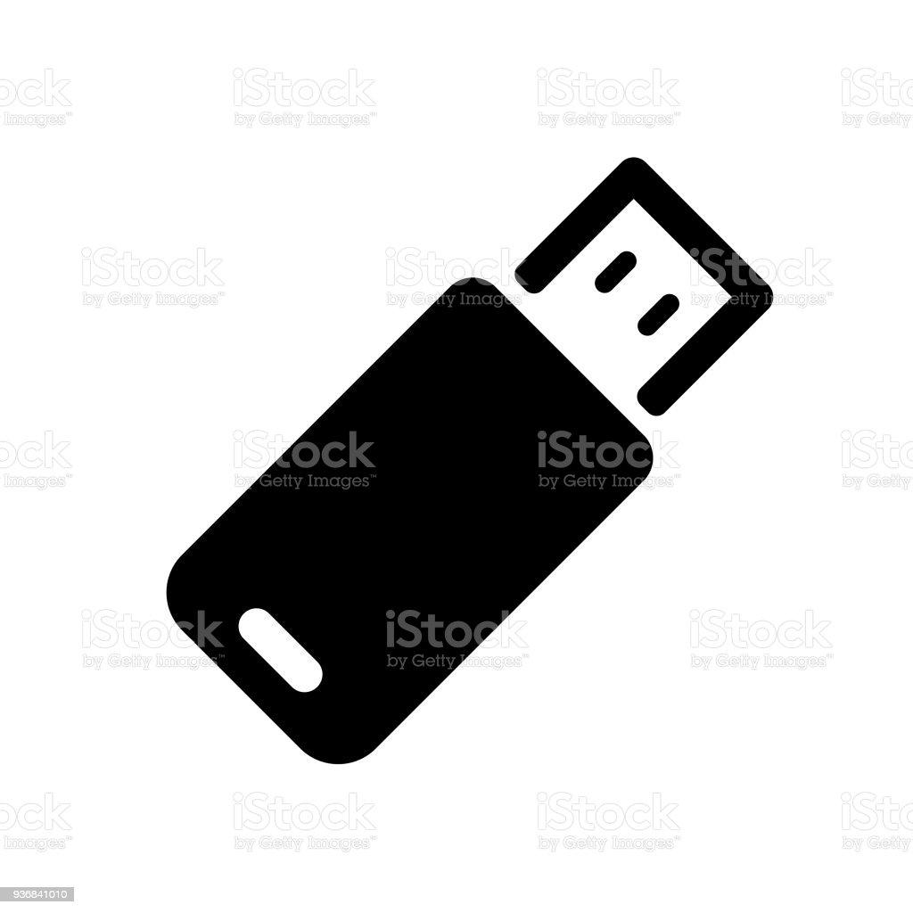 USB stick icon vector art illustration