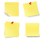 Stick note isolated on white background. Vector illustration