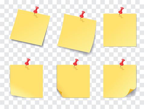 Stick Note Push pin