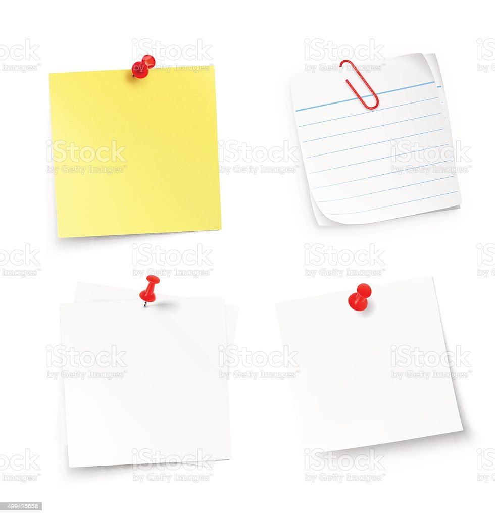 Stick notes isolated on white background. Vector illustration vector art illustration