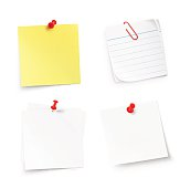 Stick notes isolated on white background. Vector illustration
