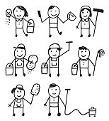 Stick people cleaner