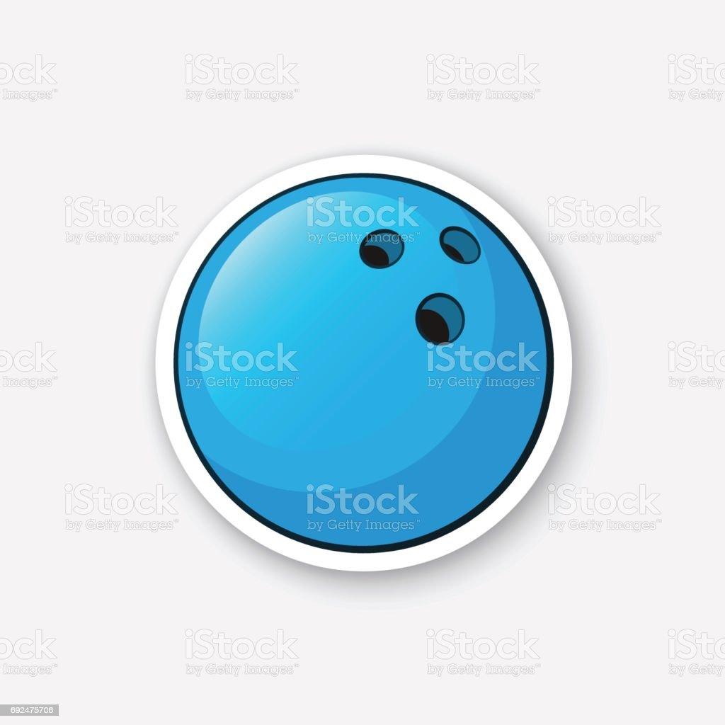Aufkleber-Bowling-Kugel – Vektorgrafik