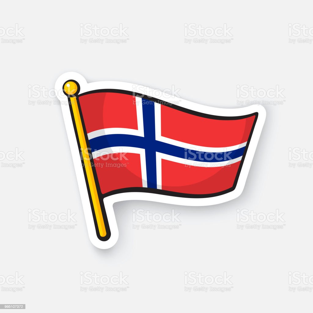 Sticker flag of norway on flagstaff stock vector art more images sticker flag of norway on flagstaff royalty free sticker flag of norway on flagstaff stock gumiabroncs Images