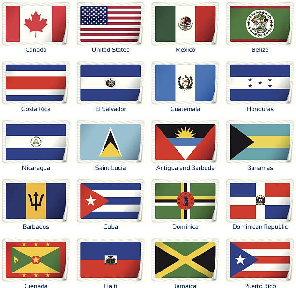 Adhesivo flags America 1 - ilustración de arte vectorial