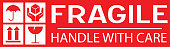 istock Sticker: fragile - handle with care - this way up - donot step 1145806869