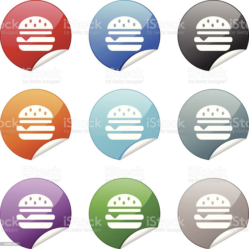 Sticker Icon | Burger royalty-free stock vector art