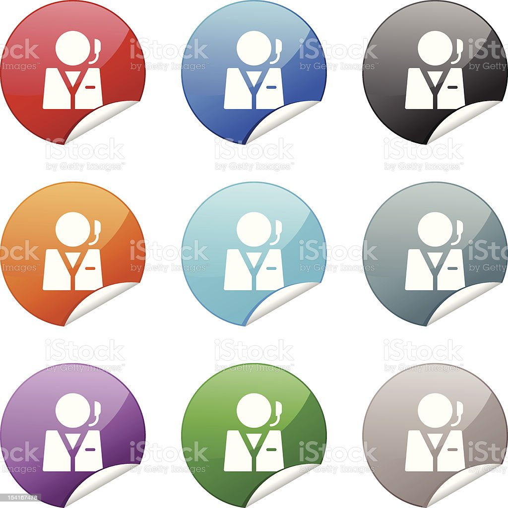 Sticker Icon | Customer Support royalty-free stock vector art