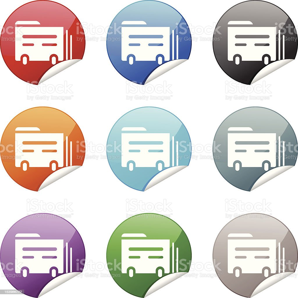Sticker Icon | Index Card royalty-free stock vector art