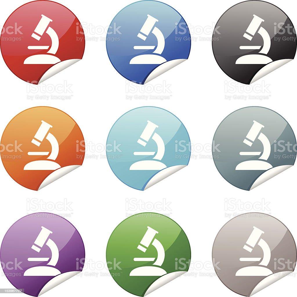 Sticker Icon | Microscope royalty-free stock vector art