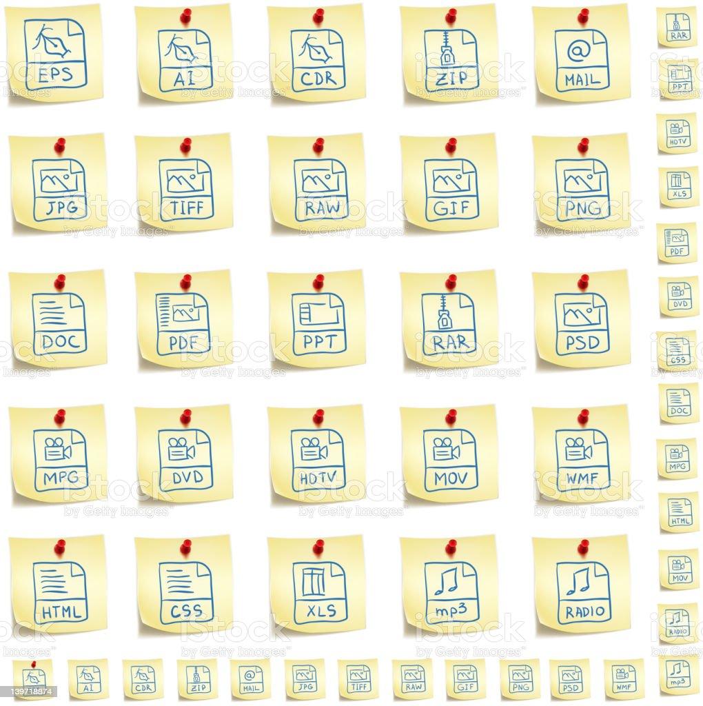 Sticker Icon Set royalty-free stock vector art