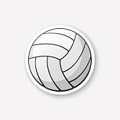 Sticker leather volleyball ball