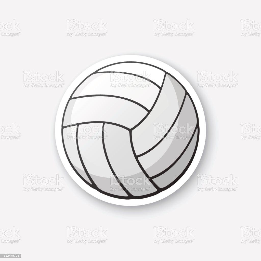 ステッカー革バレーボール ボール ベクターアートイラスト