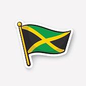 Sticker national flag of Jamaica