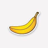 Sticker not peeled banana