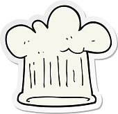 sticker of a cartoon chef hat