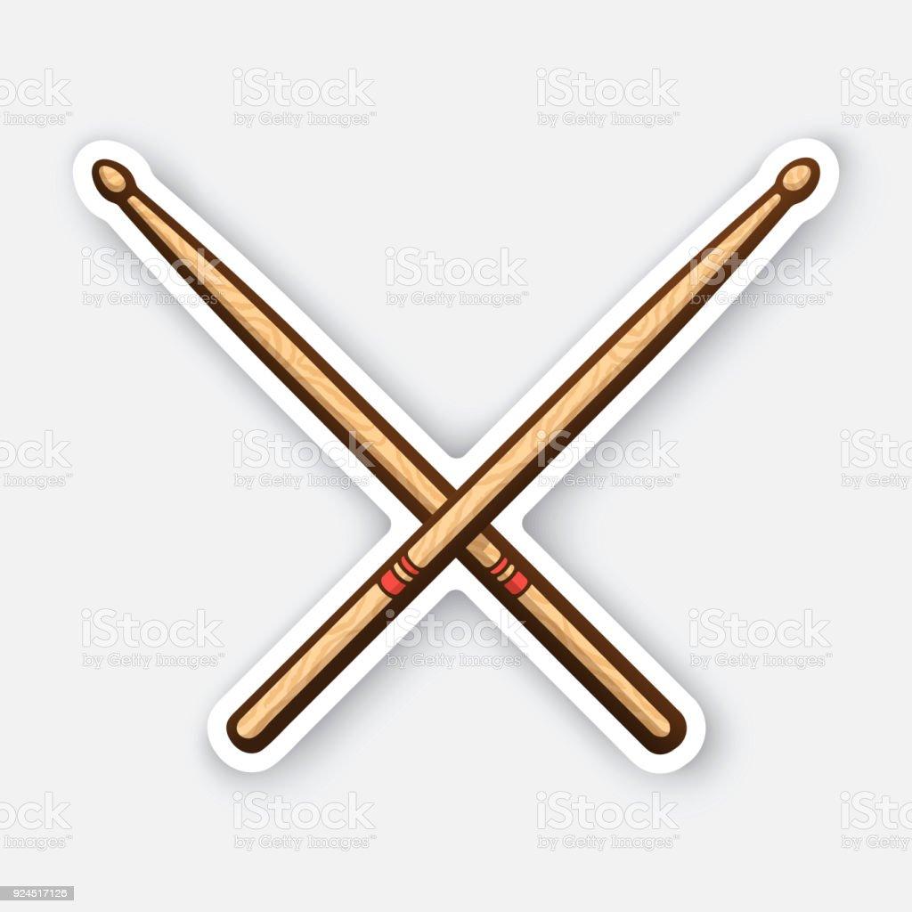 Autocollant de pilons en bois croisés - Illustration vectorielle