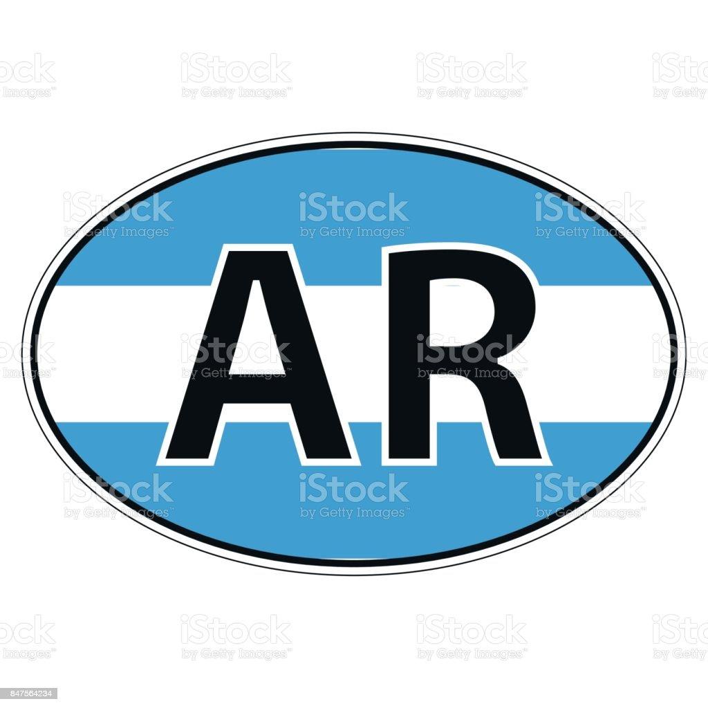 Sticker on car flag argentina argentine republic royalty free sticker on car flag