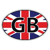 Sticker on car, flag United Kingdom of Great Britain and Norther