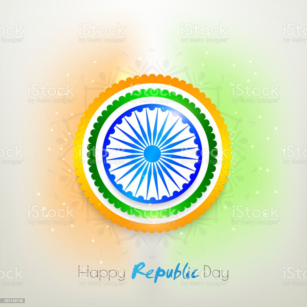 Sticker or label for Indian Republic Day. vector art illustration