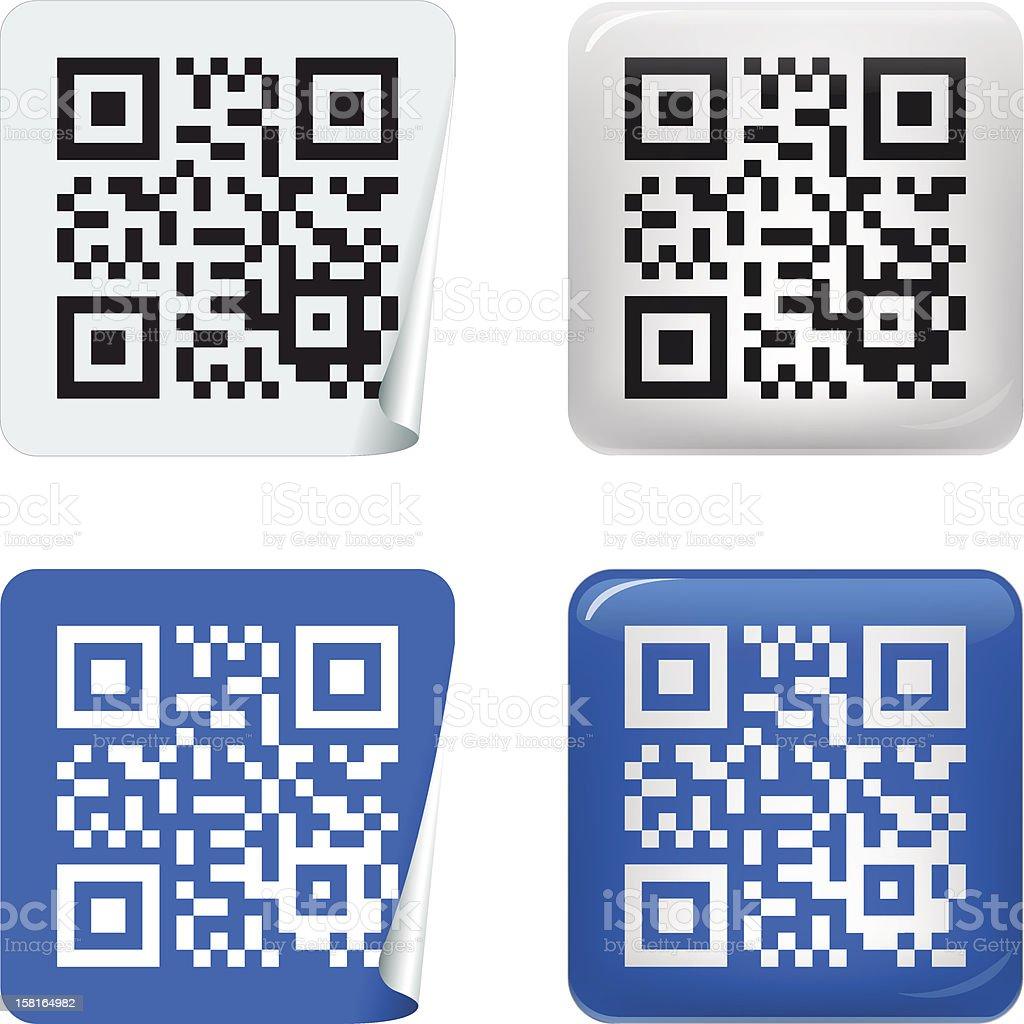 sticker QR code royalty-free sticker qr code stock vector art & more images of bar code