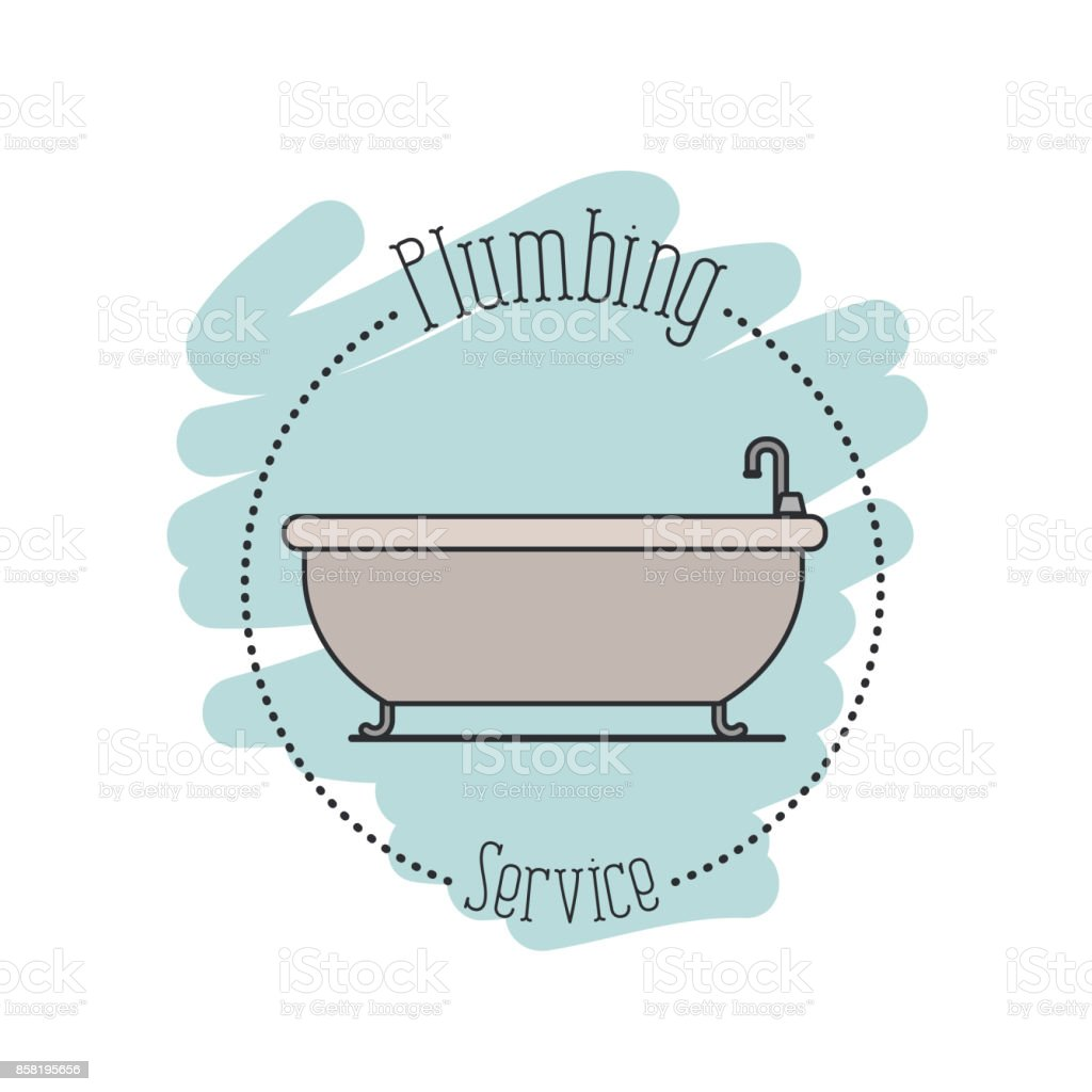 sticker scene of bath dripping flooded plumbing service royalty free stock  vector art. Sticker Scene Of Bath Dripping Flooded Plumbing Service stock