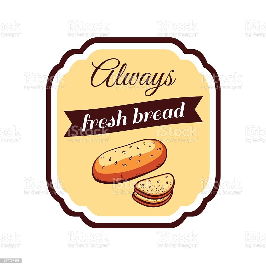Sticker_Fresh_Bread vector art illustration
