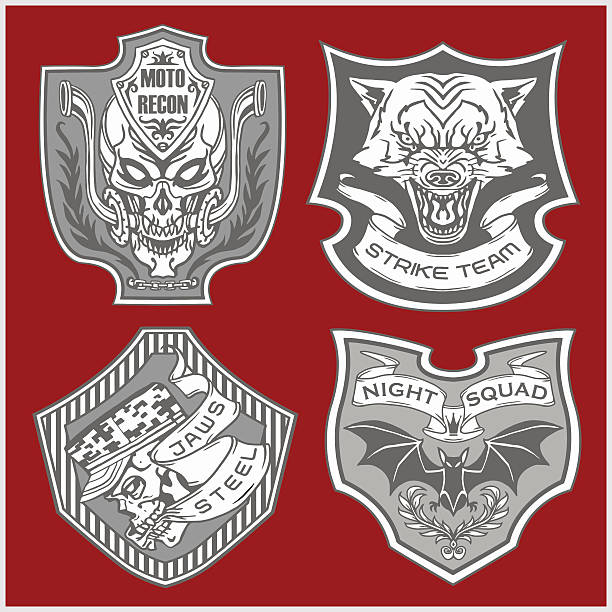 Four bikers stock illustration. Image of helmet ... |Clipart Biker Gang Sign