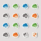 Vector illustration, can be used at any size. Each icon is available in 4 colors (green, orange, blue and gray). Shadows could be easily moved or deleted. Files included: Vector EPS 10,  HD JPEG 5000 x 5000 px