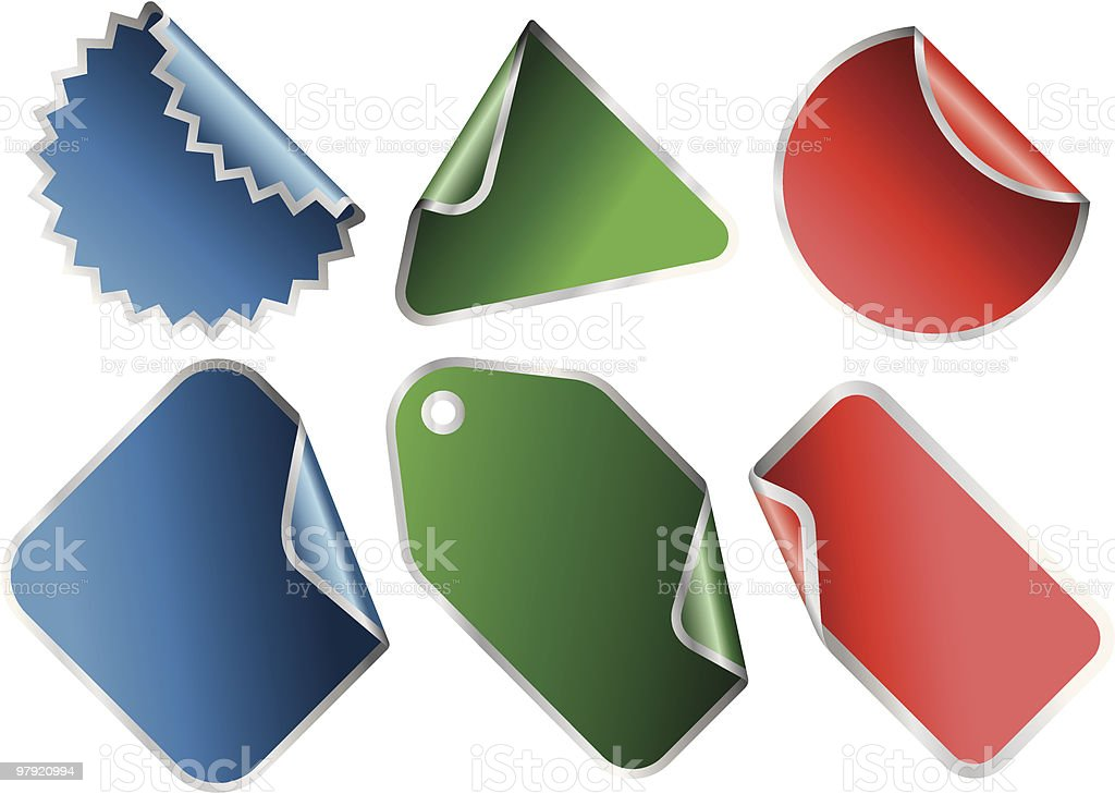 Stickers set royalty-free stickers set stock vector art & more images of adhesive note
