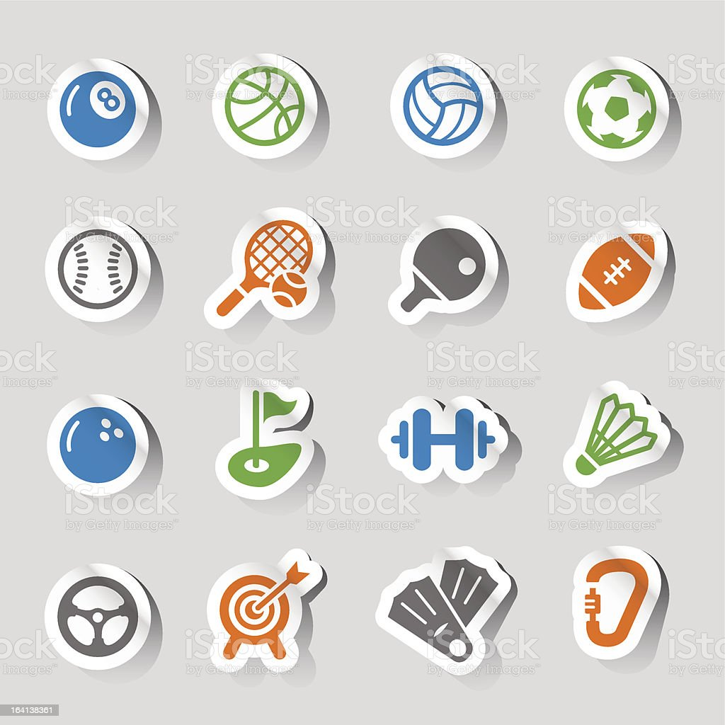 Stickers - Sport icons royalty-free stock vector art
