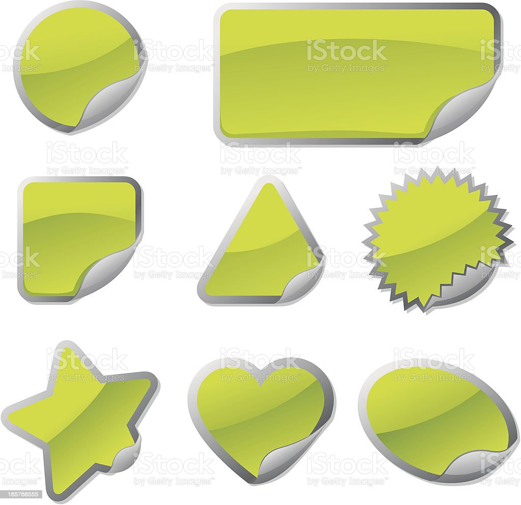 stickers royalty-free stock vector art