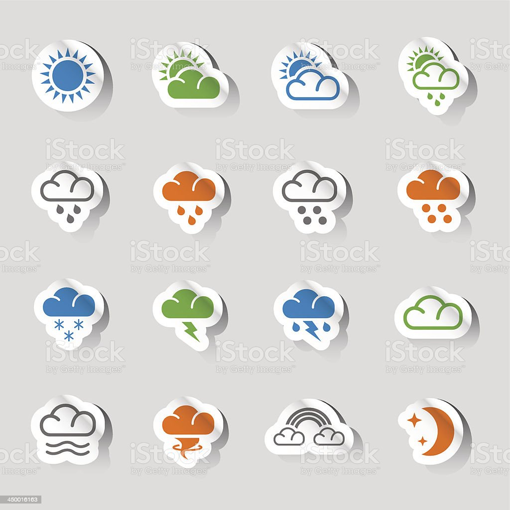 Stickers - Weather Web Icons royalty-free stickers weather web icons stock vector art & more images of blizzard