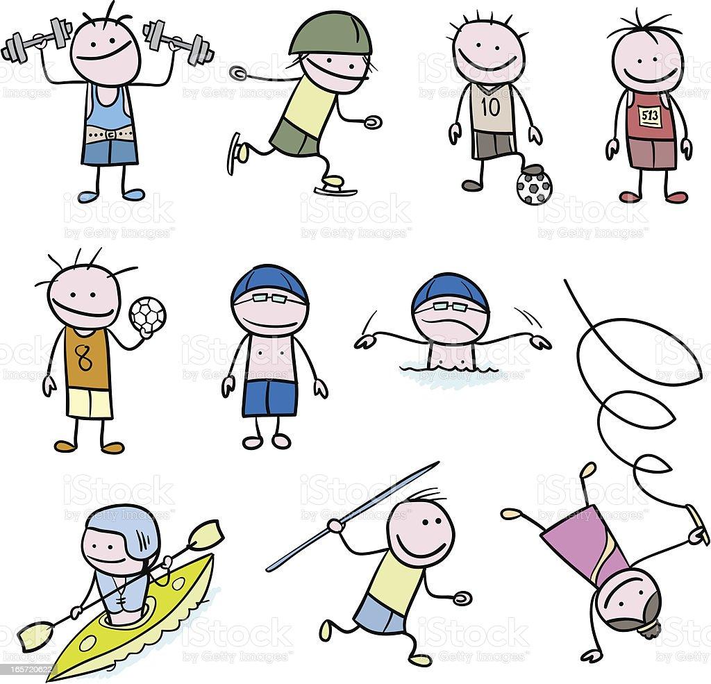 Stickfigure Sports - Illustration vectorielle