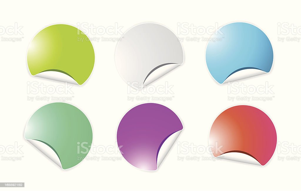 stickies royalty-free stock vector art