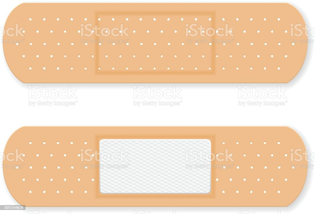 Sticking plaster vector art illustration